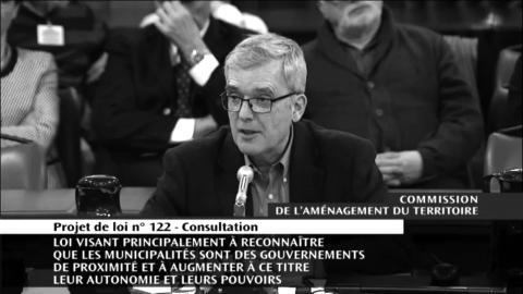 Michel Hallé, du Conseil de quartier Saint-Jean-Baptiste lors de l'audition