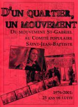 À l'occasion du 25ème anniversaire du Comité populaire, l'organisme avait confié à Évelyne Pedneault le soin d'écrire son histoire. Le résultat fut une publication d'une cinquantaine de pages que l'on peut maintenant consulter en ligne.