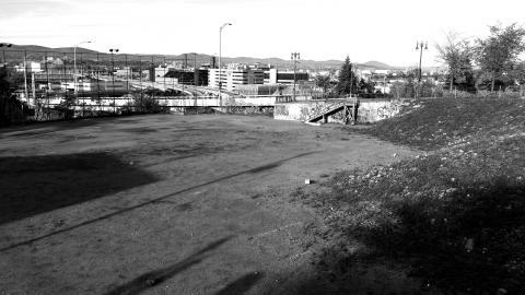 Le terrain de l'ancien Patro toujours vacant.