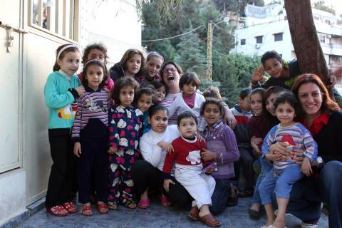Animation. Enfants syriens, réfugiés au Liban. Photo tirée de la page facebook «Action St-Jean-Baptiste: Aide aux réfugiés»
